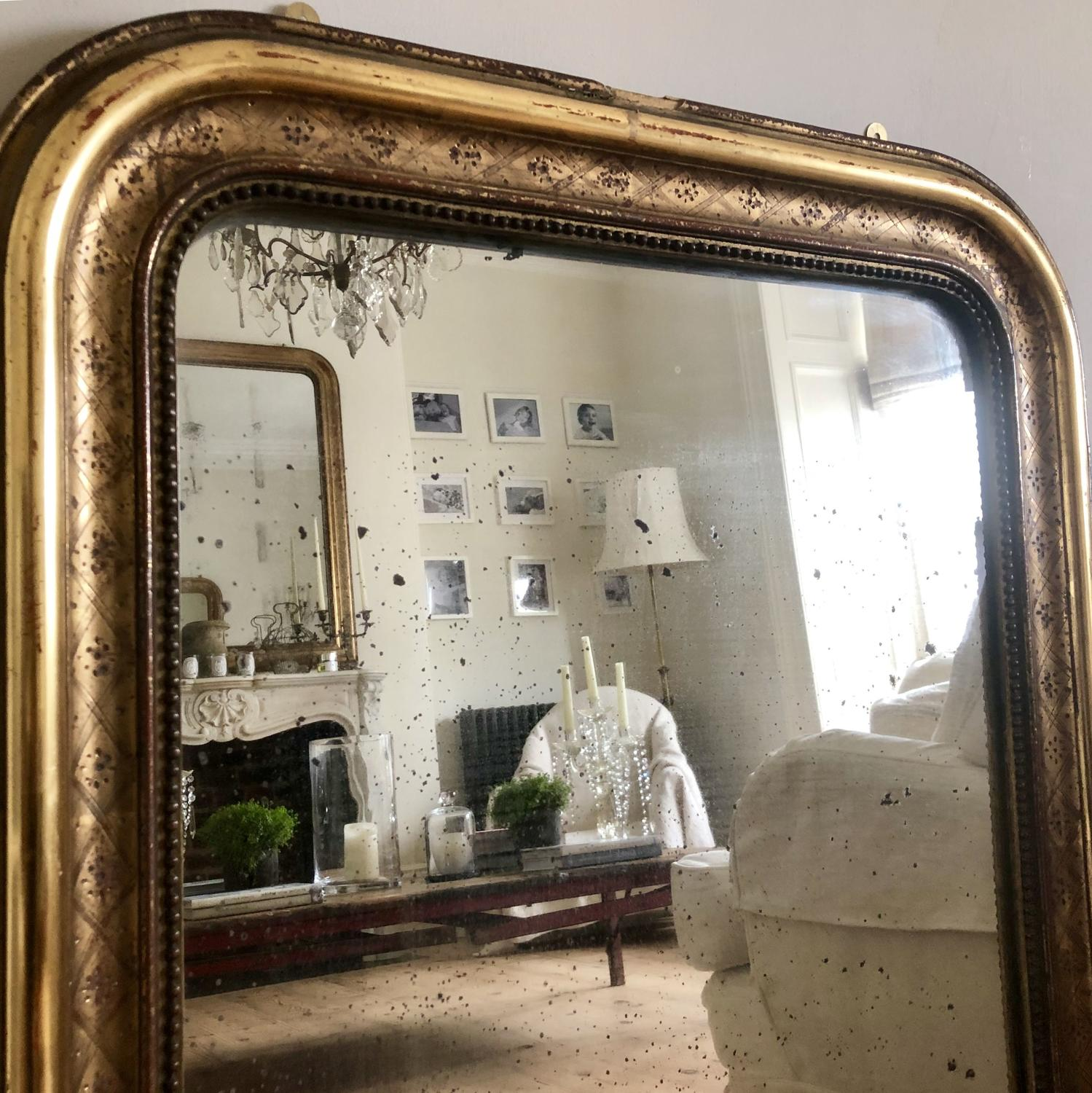 19th century French gilt Louis Philippe mirror