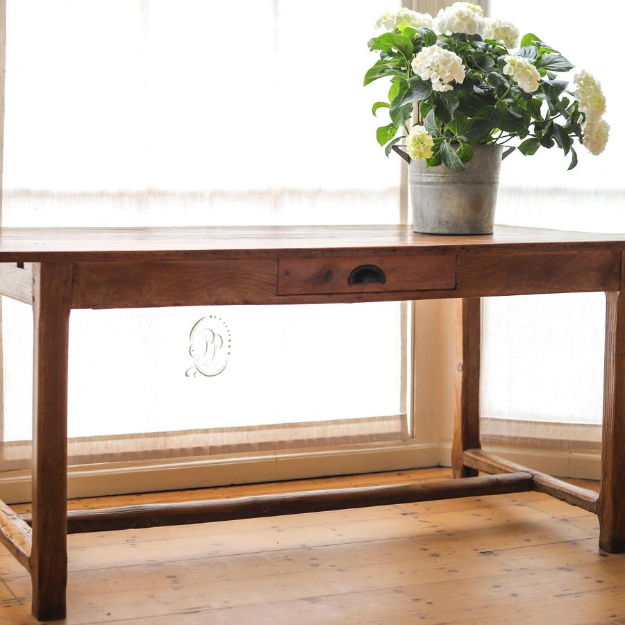 19th century French antique elm farmhouse table