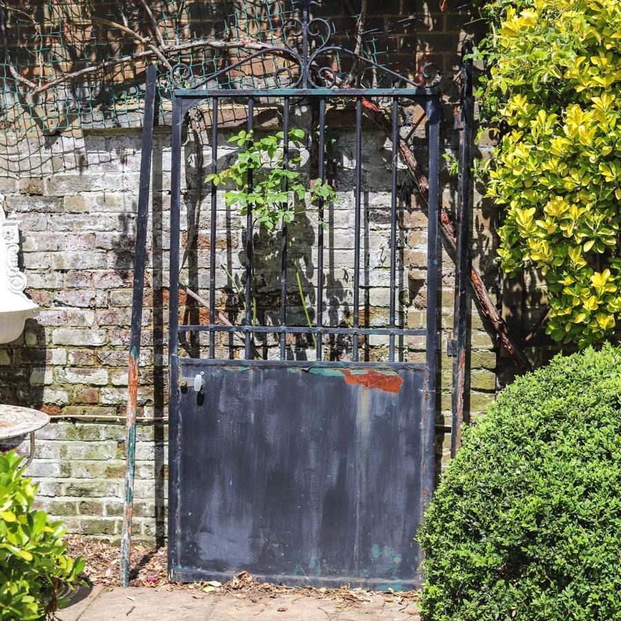 French antique iron garden gate