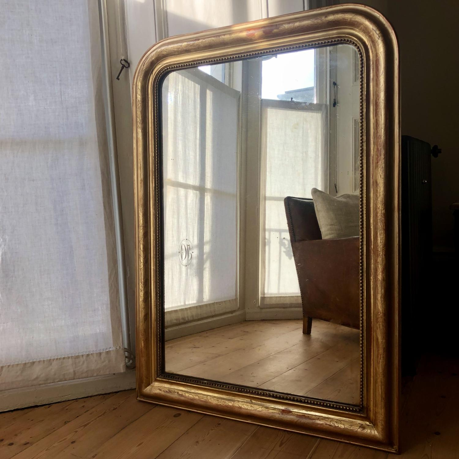 French antique gilt Louis Philippe mirror
