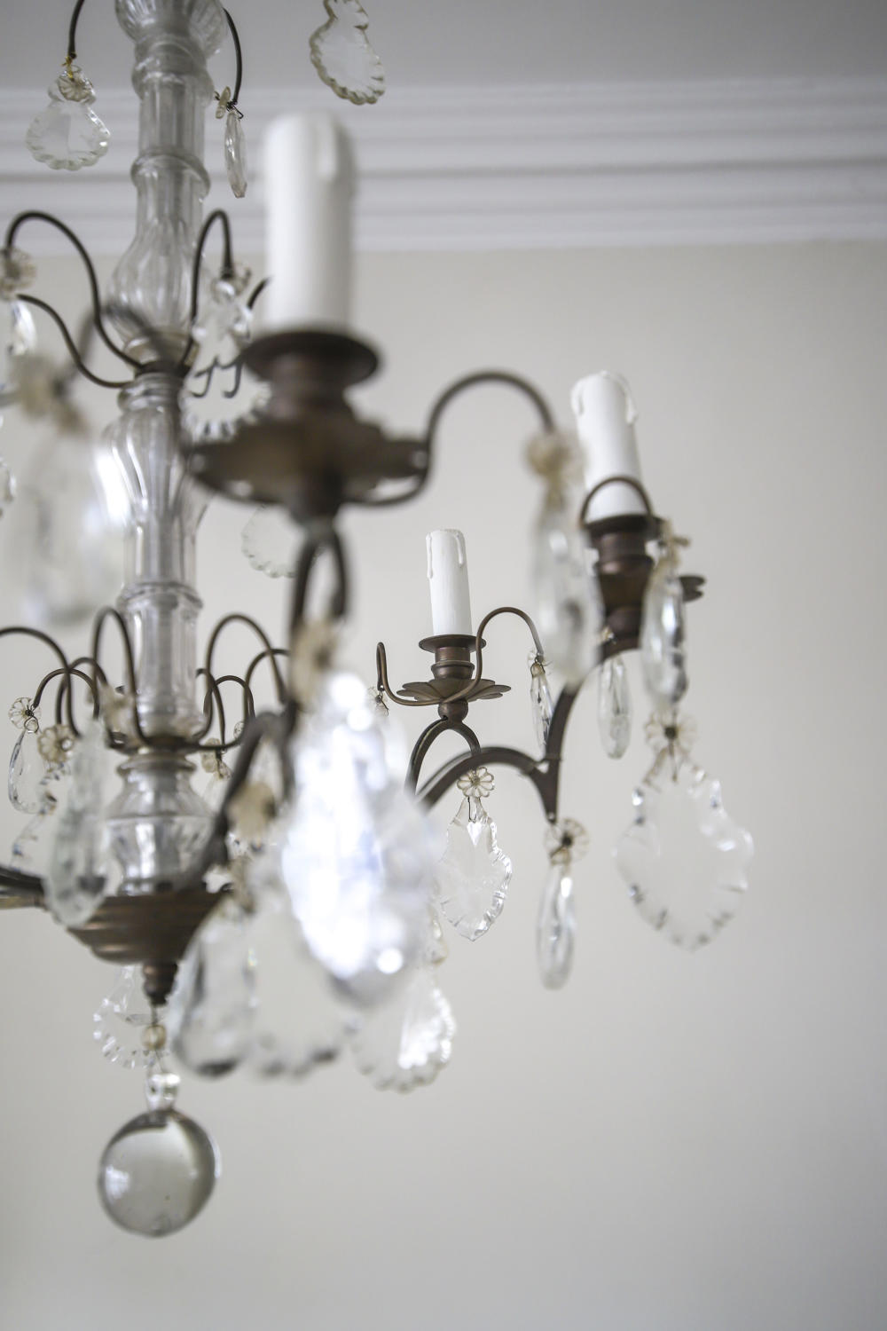 19th century French antique 6 arm chandelier
