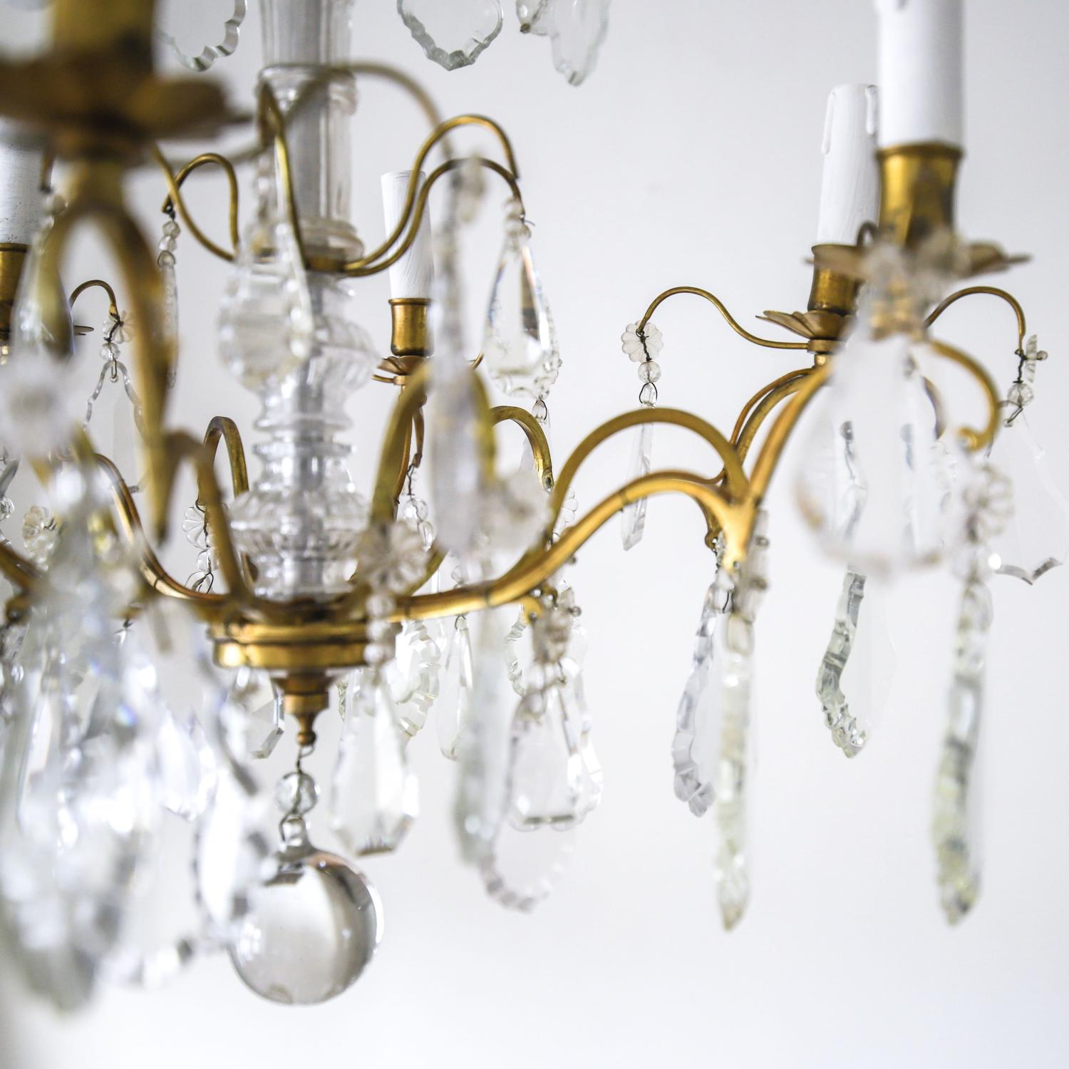 Large vintage French crystal chandelier