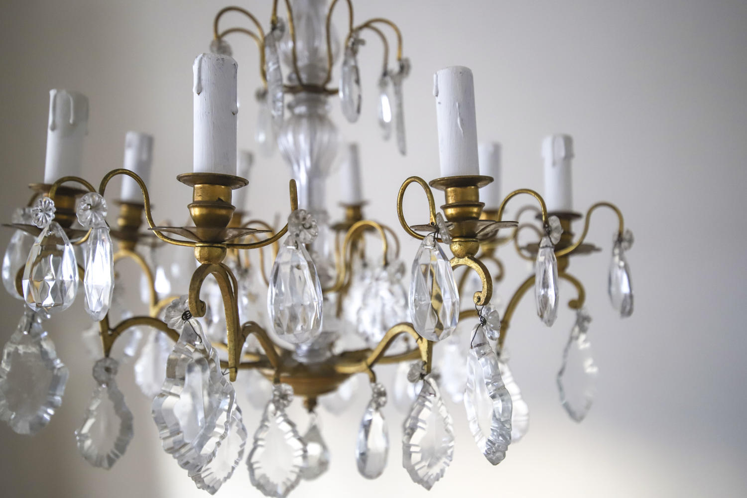 Vintage French 6 arm chandelier