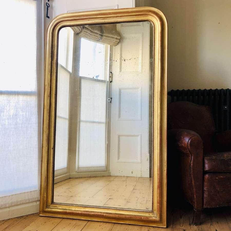 Large antique gilt Louis Philippe mirror c1860