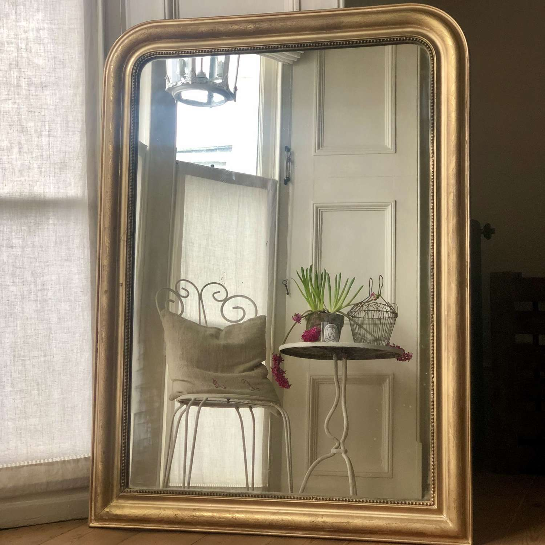 Antique French gilt Louis Philippe mirror c1860