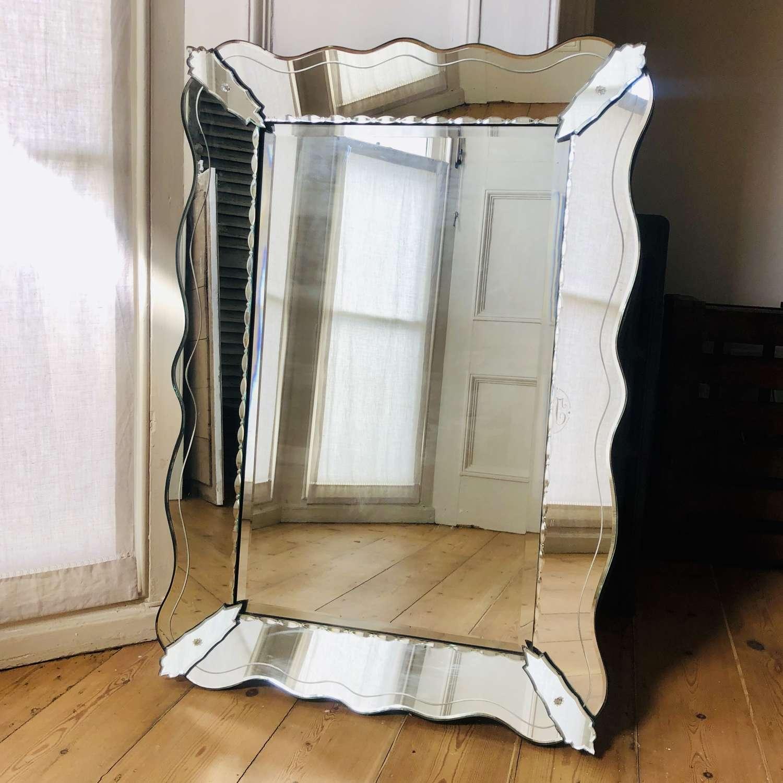 Vintage French Venetian mirror