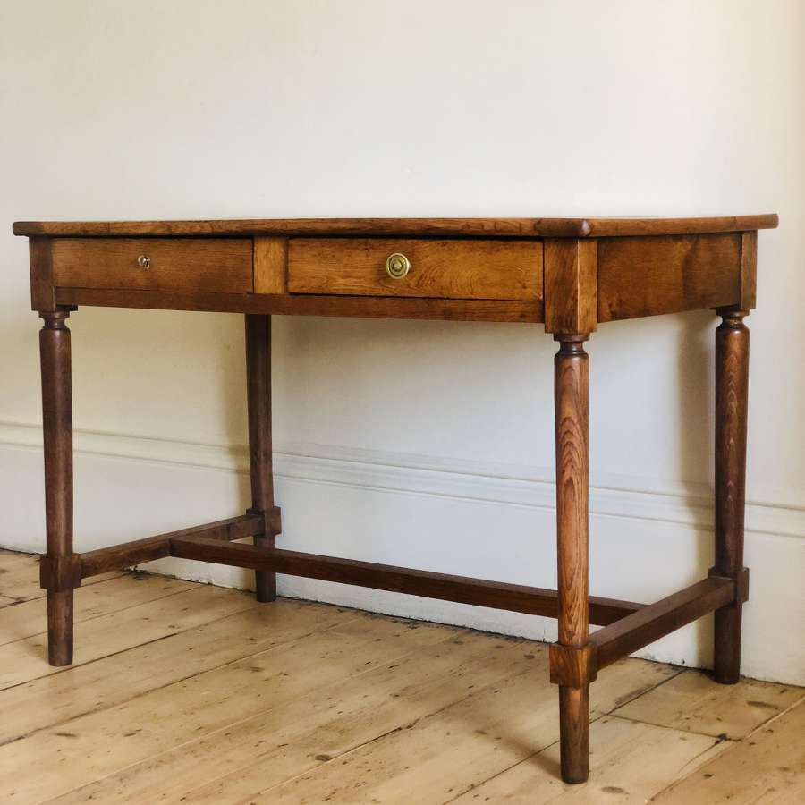19th century antique French oak desk table - Paris