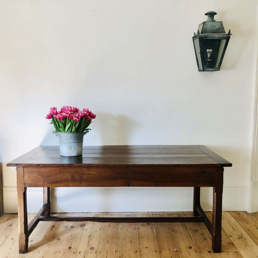 19th century antique French oak farmhouse table
