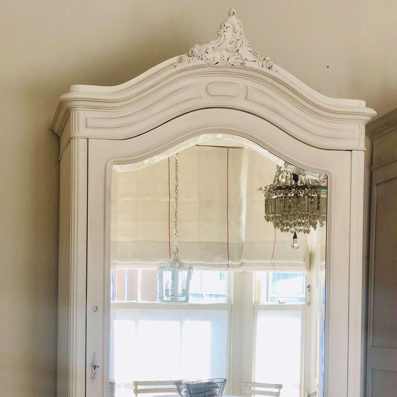 Antique French Louis XV armoire / wardrobe / linen press