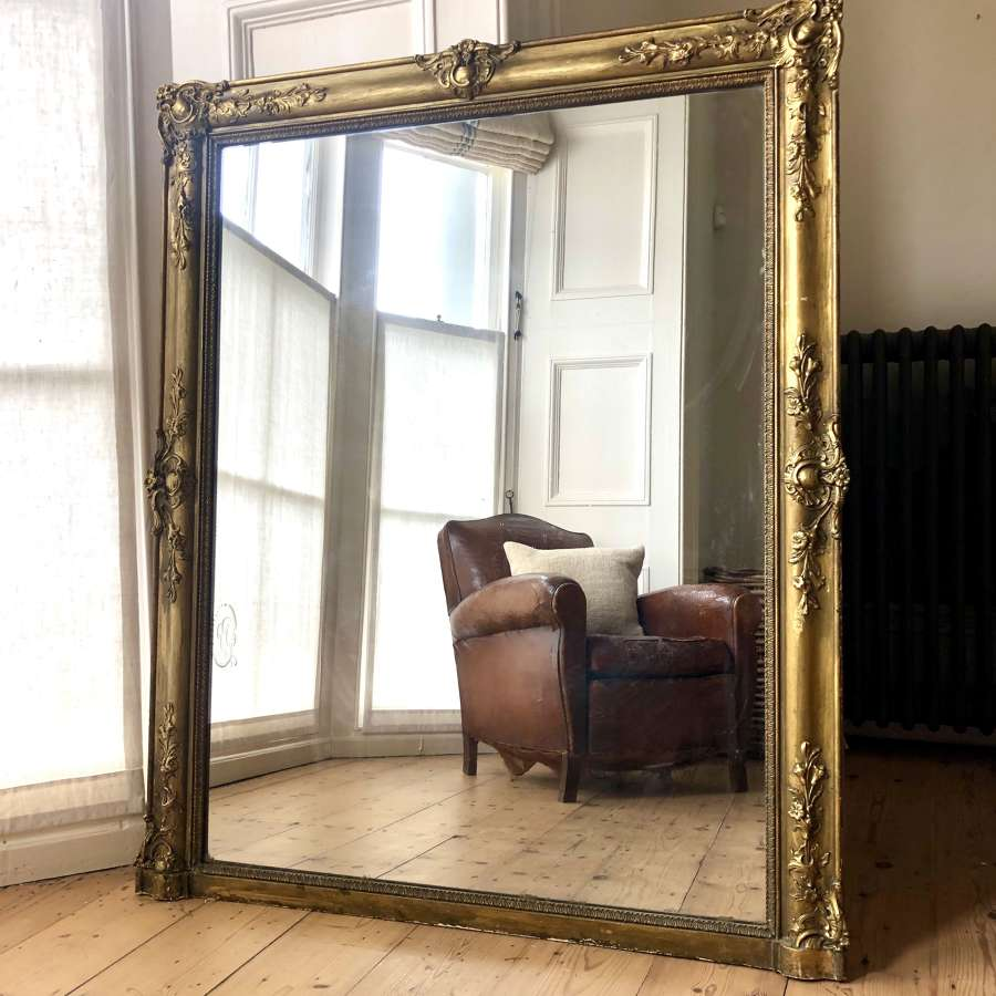 Large 19th century French antique mirror