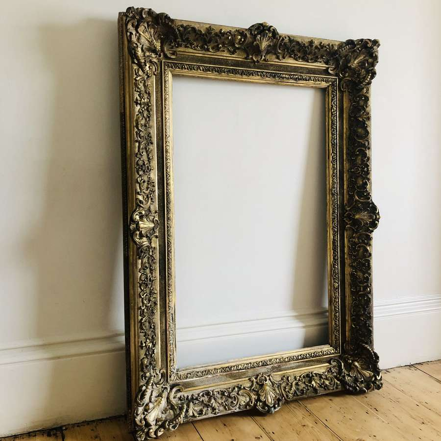 Large 19th century French gilt on gesso frame