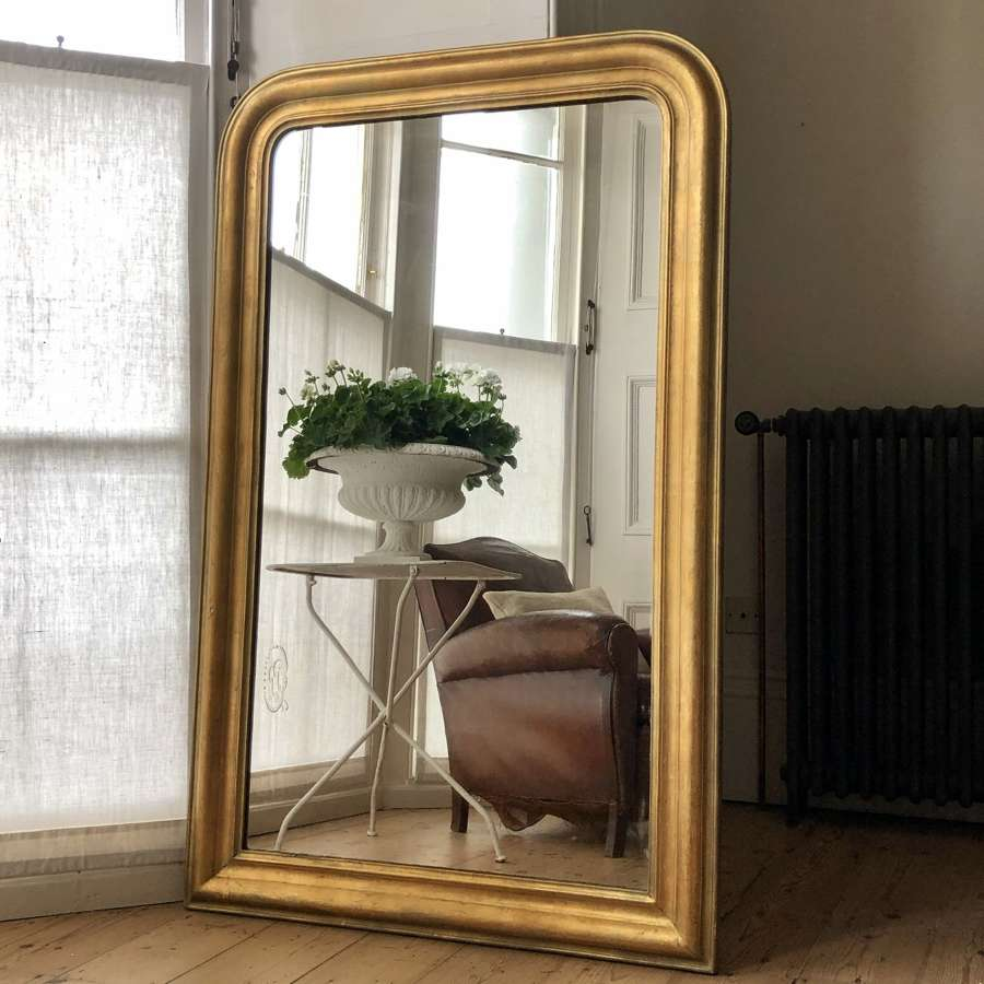 Antique French Louis Philippe gilt mirror