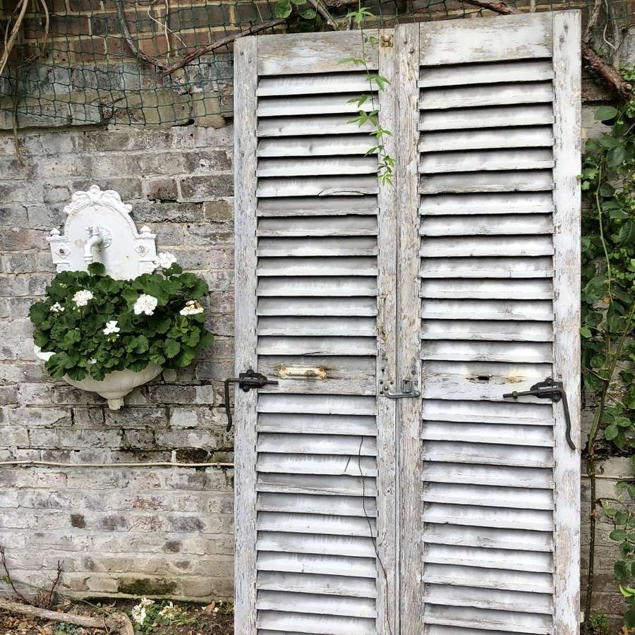Antique French oak shutters