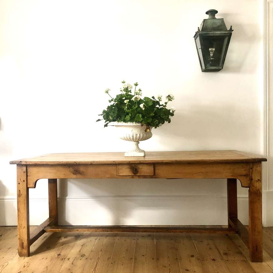 19th century antique French farmhouse refectory table