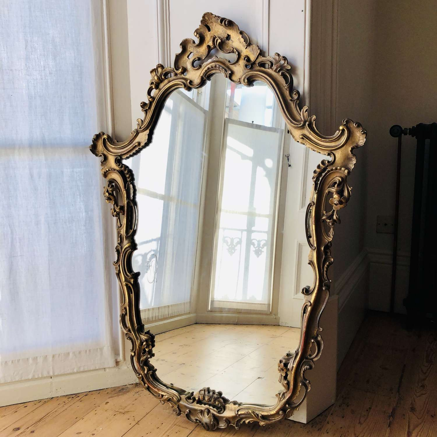 19th century ornate gilt mirror