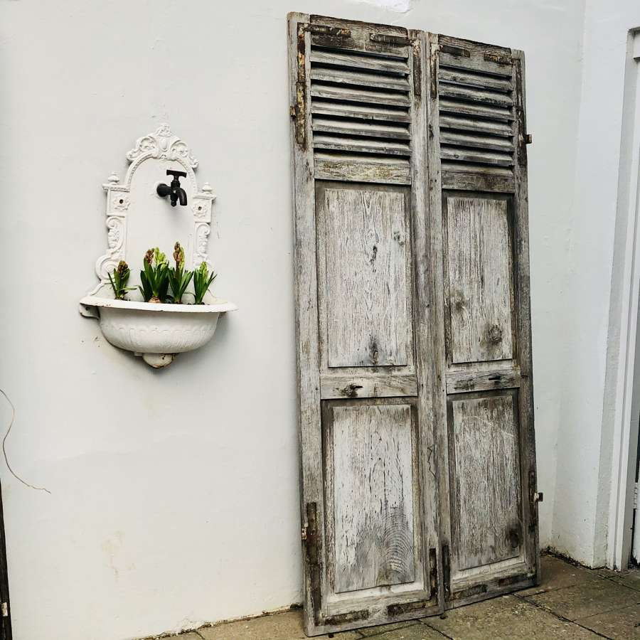 Antique French oak shutters/doors