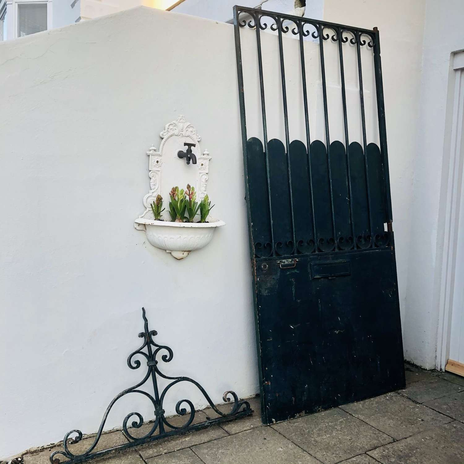 19th century French antique iron gate