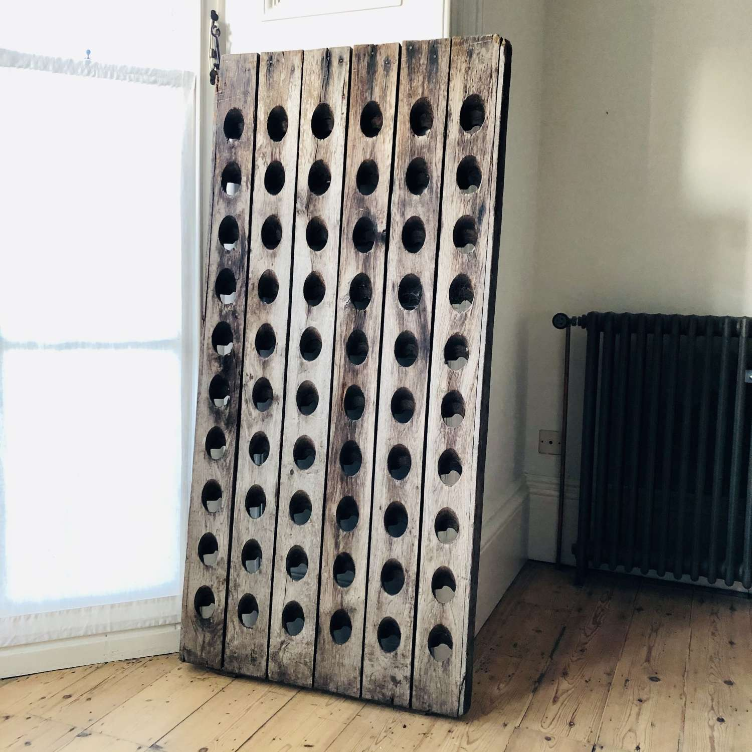 Antique French oak Champagne rack