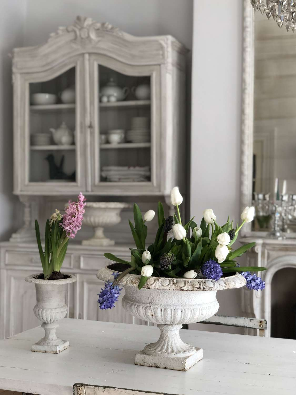 Antique French planters