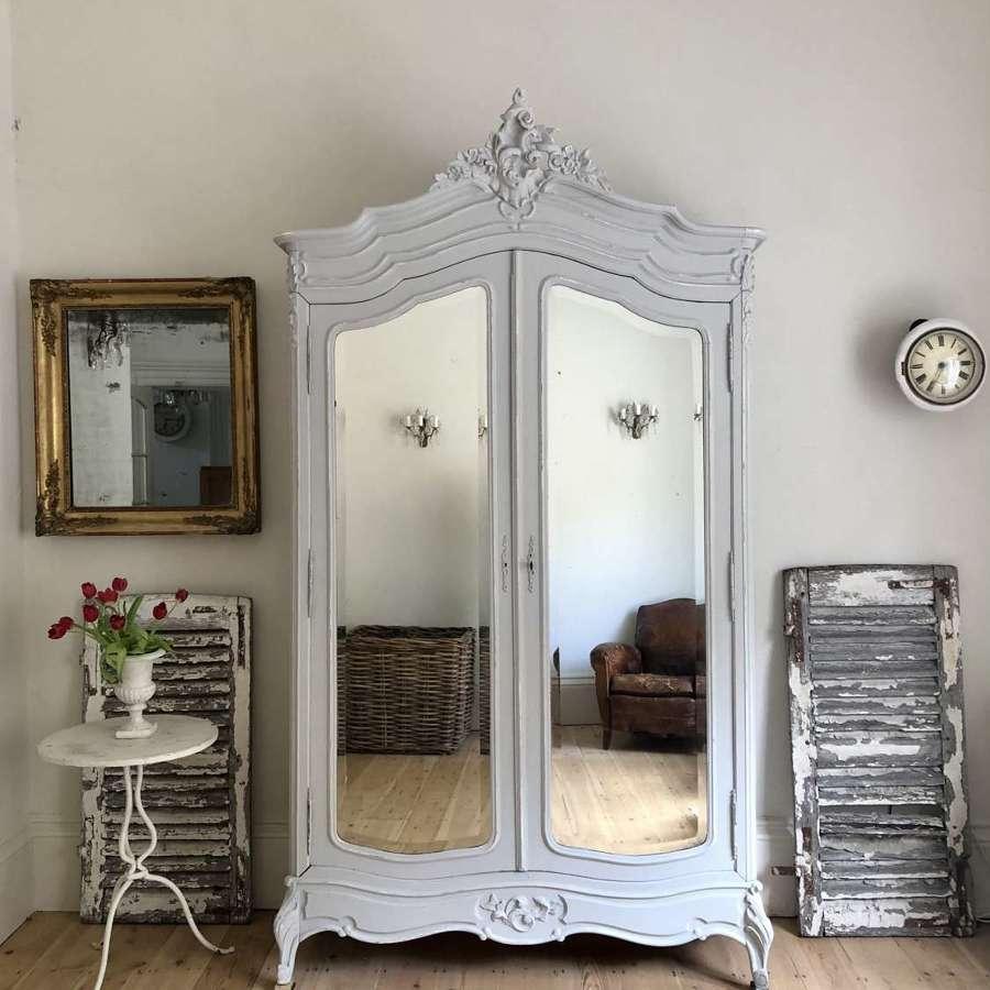 Antique French armoire wardrobe linen press