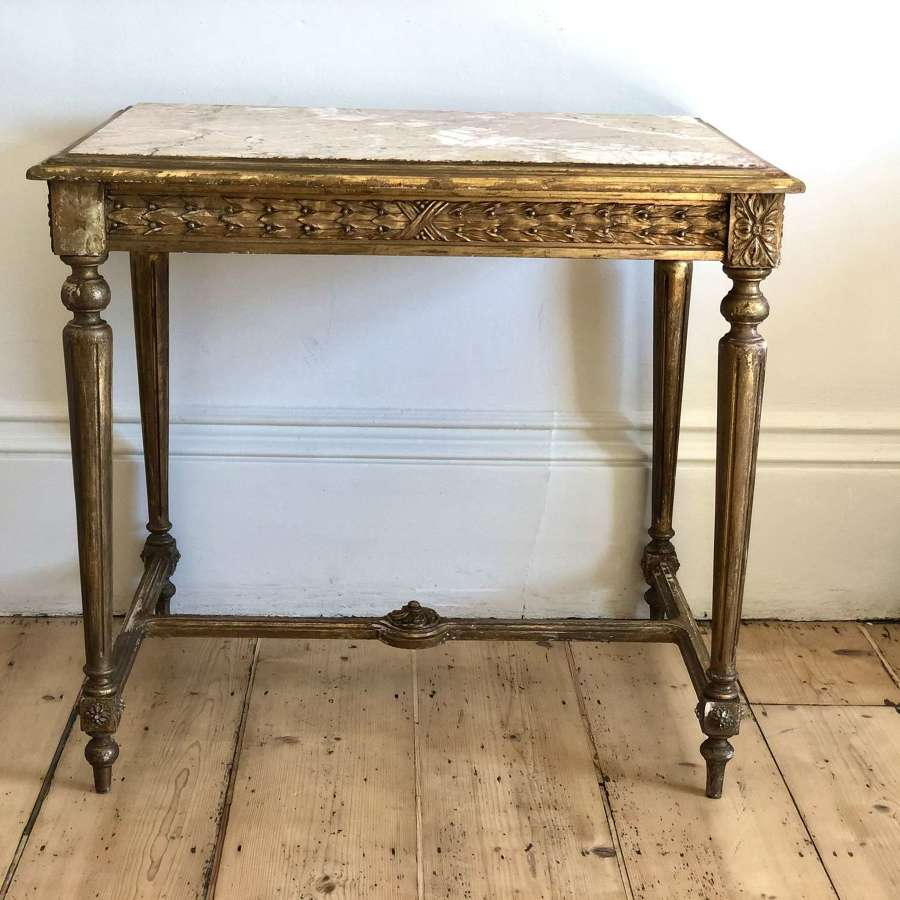 Antique French gilt console occasional table