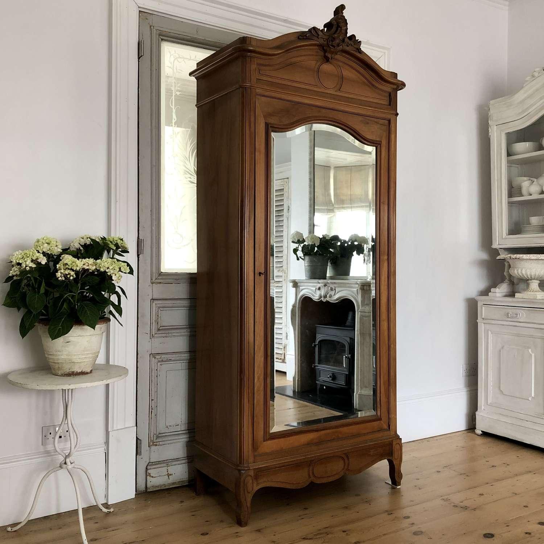 Antique French armoire linen press