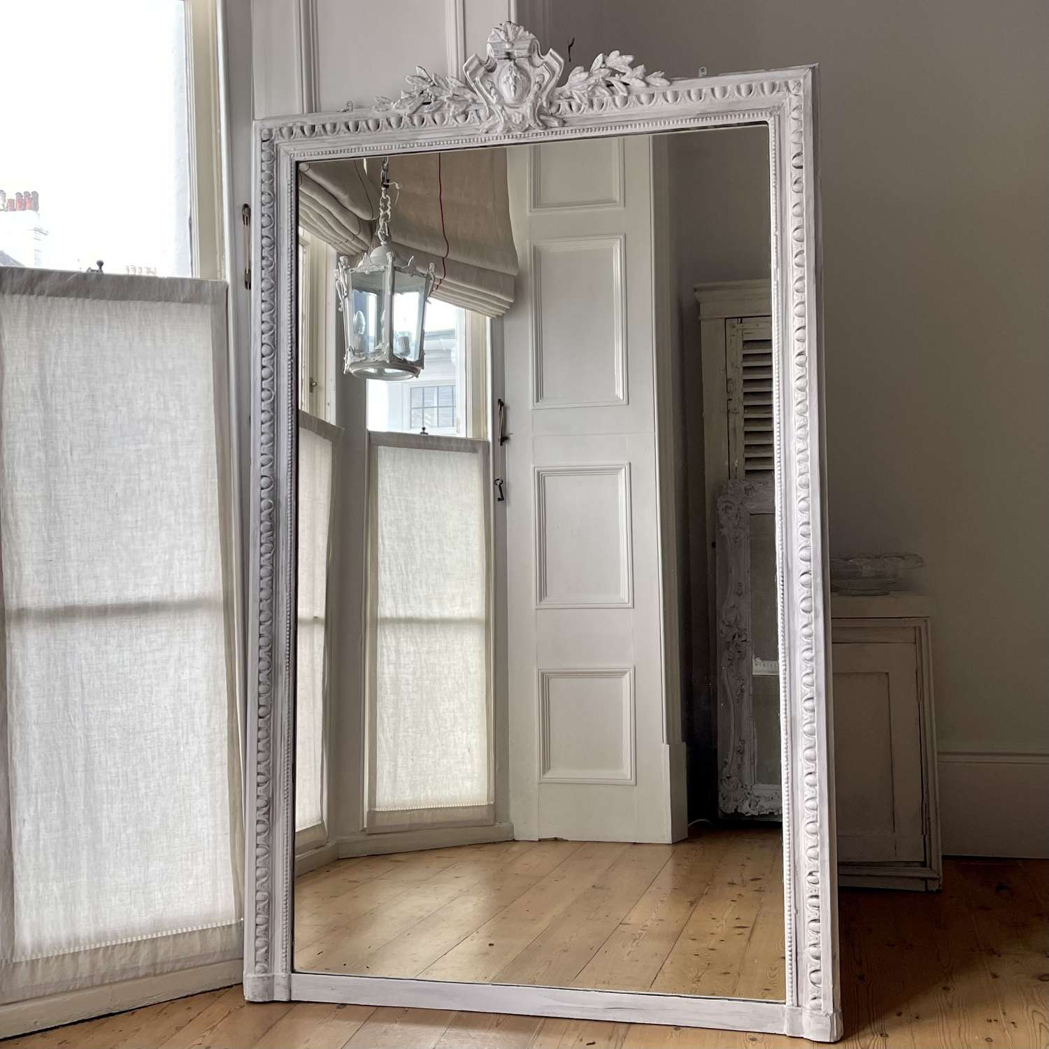 19th century Antique French leaner mirror