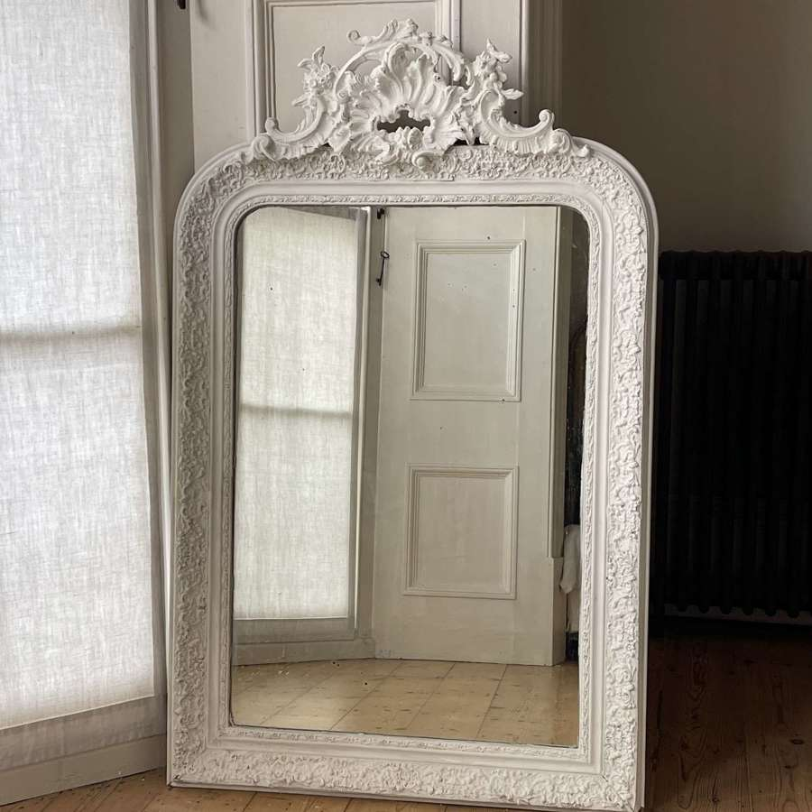 Antique French gesso Louis XV mirror