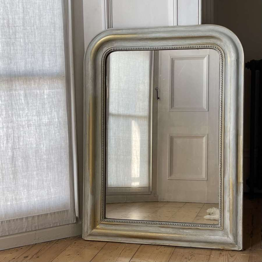 19th century Antique French gesso Louis Philippe mirror