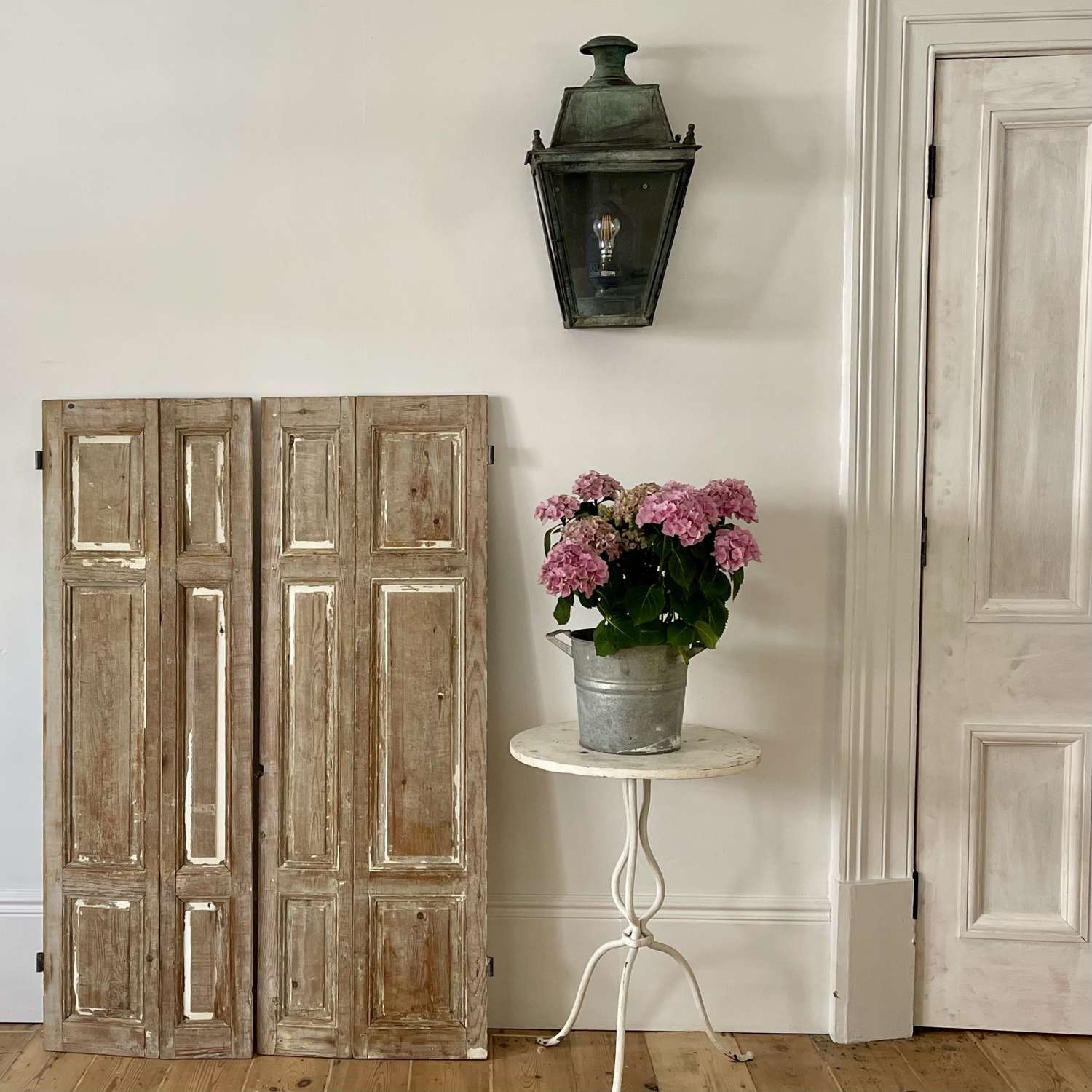Antique French shutters