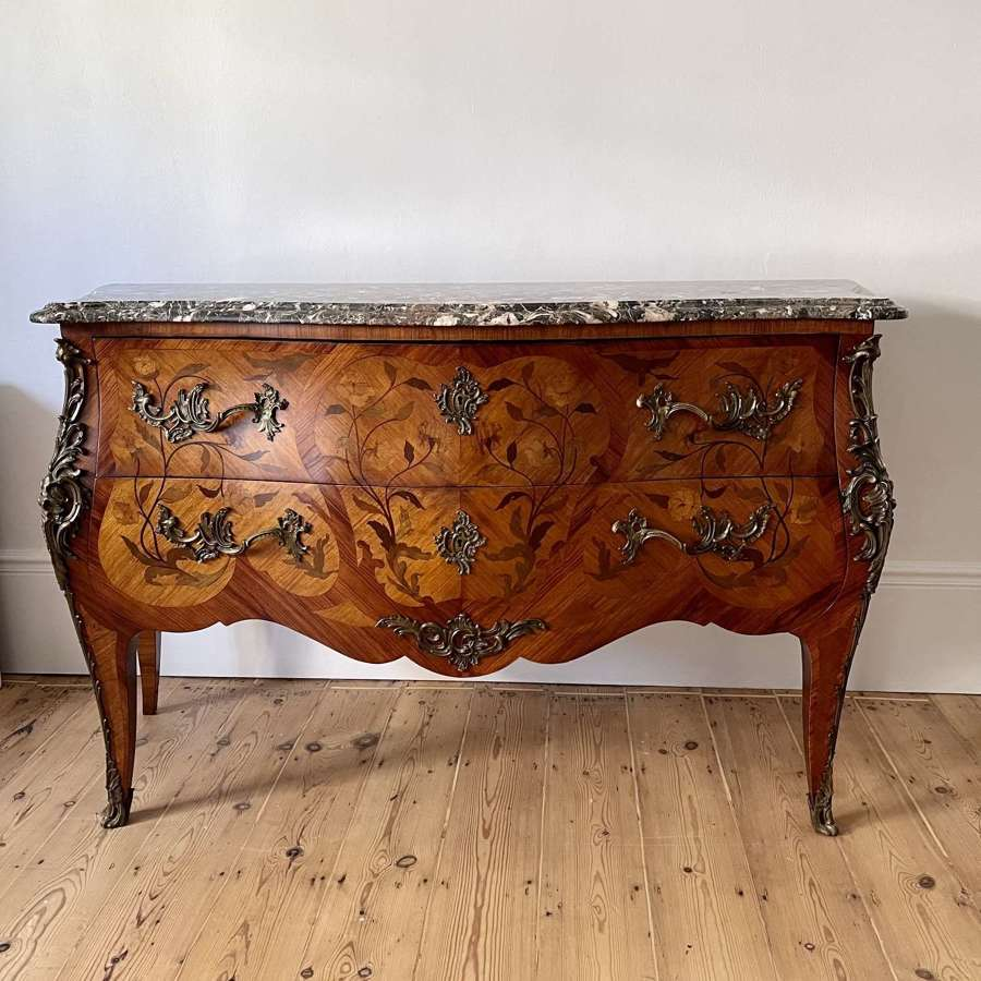 Large antique French commode chest of drawers
