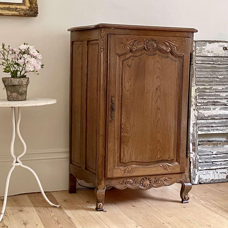 Antique French oak Louis XV cupboard