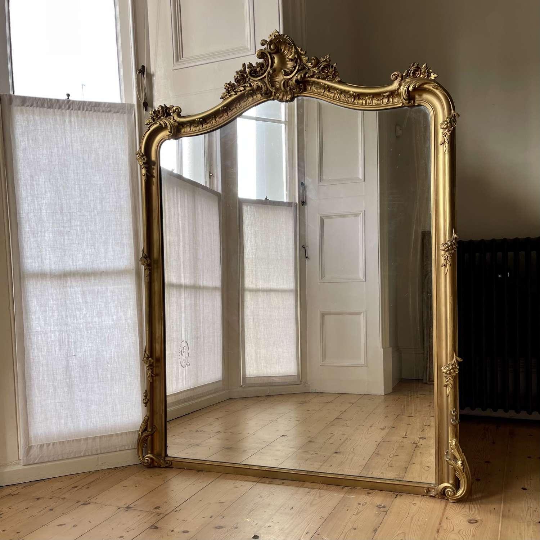 19th century French gilt Louis XV mirror